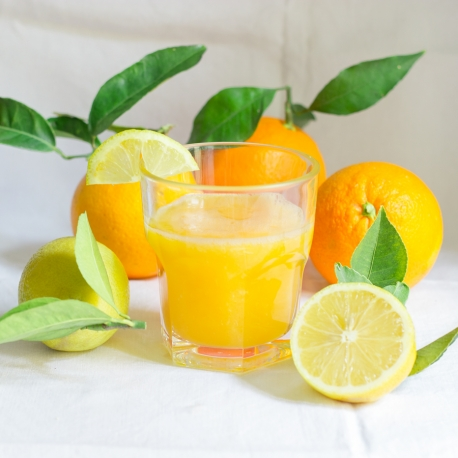 Orange Juice Combine with Lemons