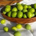 Green Organic Manzanilla Olives for dressing